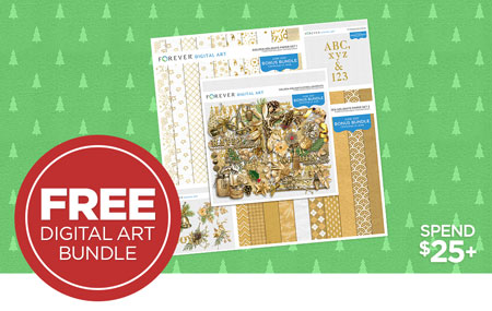 Get our Golden Holidays Collection Bundle (valued at $25) FREE when you spend $25+ on Digital Art!