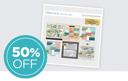 Save 50% on our July Seamless Layflat Collector's Edition Digital Art Bundle!