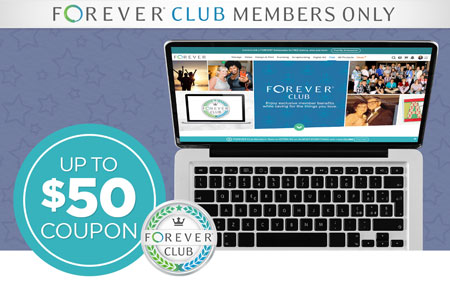 Join FOREVER Club with a new, returning, or additional Membership and we'll MATCH your first month's payment up to $50!