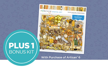 Get 15 exclusive kits ($111 value) PLUS one bonus kit ($10 value) FREE with your Artisan 6 purchase!