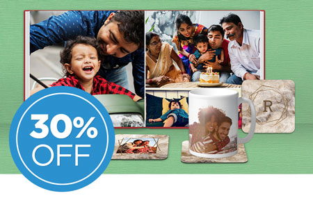Save 30% on all other printed products, including photo prints!