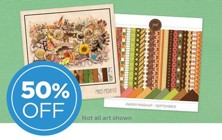Save 50% on our September Scrap Café Digital Art Collaboration!