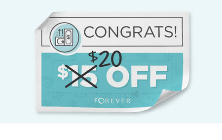 Get $20 off every time you refer a friend to join FOREVER!
