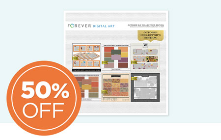 Save 50% on our October Seamless Layflat Collector's Edition Digital Art Bundle!
