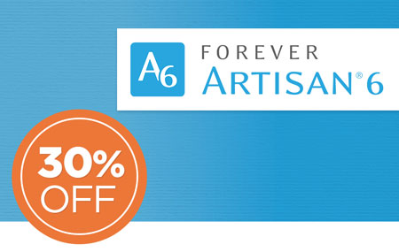 Save 30% on FOREVER Artisan® 6 software & upgrades! Get Early Access NOW at our lowest price!